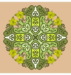 Ornamental round lace in fantasy style vector image