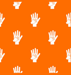 parent and child hands together pattern seamless vector image