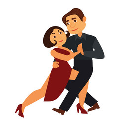passionate tango dancers in traditional outfits vector image