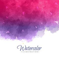 Pink watercolor background vector