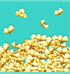 popcorn pattern vector image