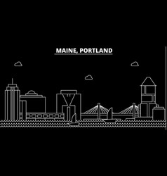 portland silhouette skyline usa - portland vector image