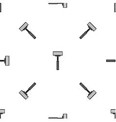 razor pattern seamless black vector image