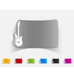 realistic design element electric guitar vector image