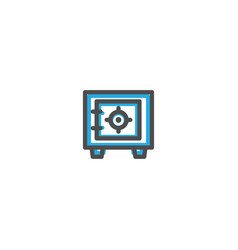 safe box icon line design e commerce icon vector image