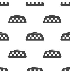 seamless pattern taxi vector image