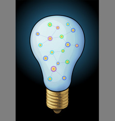 shiny bulb with graph vector image