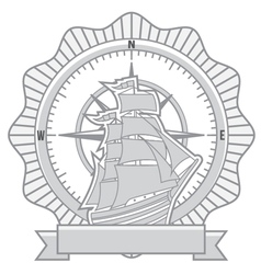 ship badges vector image