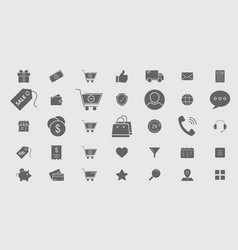 shopping icons 05 vector image