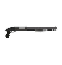 shotgun gun rifle hunting isolated weapon vector image