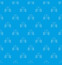 Smart robot pattern seamless blue vector