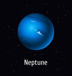 Solar system object neptune vector