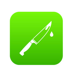 steel knife icon digital green vector image