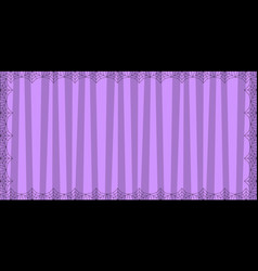 striped purple rectangle background with cute vector image