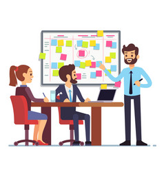 students team work on tasks process schedule in vector image vector image