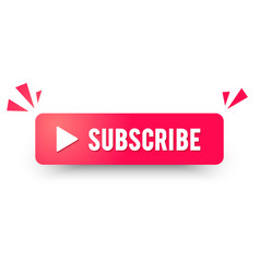 subscribe channel button modern website icon vector image