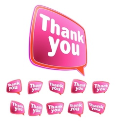 Thank you message stickers set EPS8 vector