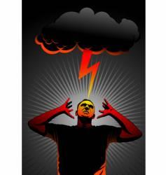 Thunder in head vector