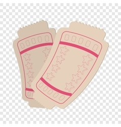 Tickets cartoon icon vector image