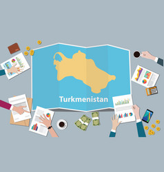 turkmenistan country growth nation team discuss vector image