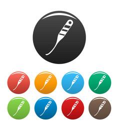 unlock door tool icons set color vector image