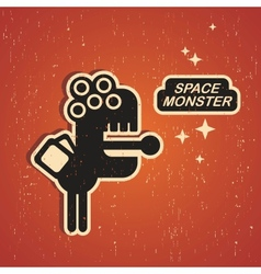 Vintage monster vector image