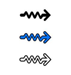 wavy arrow icon vector image