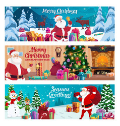 winter holidays christmas and new year greeting vector image