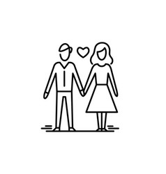 young couple in love man and woman dating vector image