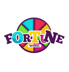 bright fortune wheel made of colorful segments vector image vector image