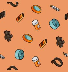 vet pharmacy color outline isometric pattern vector image