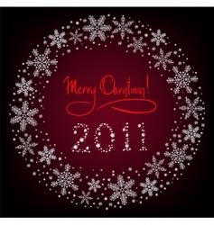 winter Christmas wreath vector image