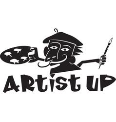Artist up vector
