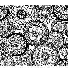 ethnic indian pattern nature seamless pattern vector image vector image