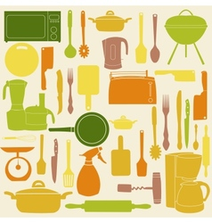 kitchen tools for cooking vector image vector image