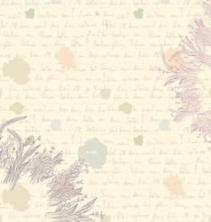 Old letter background - paper vector image