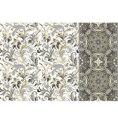 Seamless floral patterns set ornaments vector image