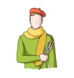 artistprofessions single icon in cartoon style vector image