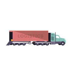 commercial freight truck loading isolated icon vector image vector image