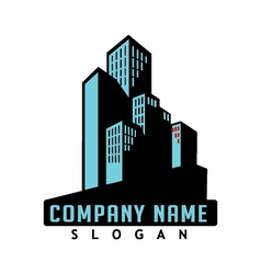 commercial real estate icon vector image