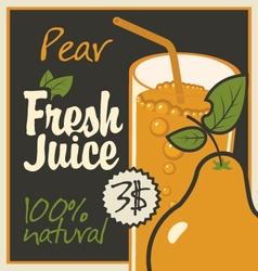 juice pear vector image