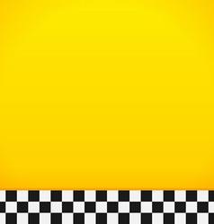Taxi Checkerboard Pattern vector image vector image