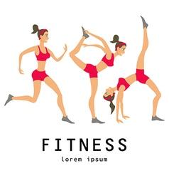 yoga set Women class center studio vector image