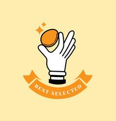 best selected fresh egg logo vector image vector image
