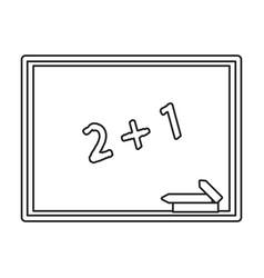 chalkboard class school chalk thin line vector image vector image
