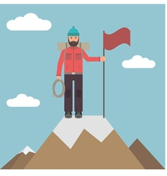 Climber on top vector image