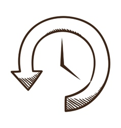 Clock and arrow vector image vector image
