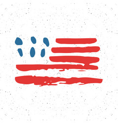 grunge hand drawn usa flag american abstract vector image vector image
