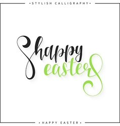 Lettering calligraphy set Happy Easter day Modern vector image