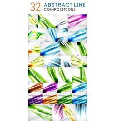 Mega collection of straight lines vector image vector image